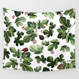 Figs White Wall Tapestry