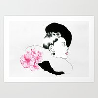 helen green Art Prints featuring Helen by youdesignme