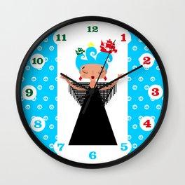 Portuguese Fado Singer and ships Wall Clock