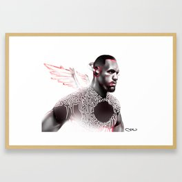"""KING JAMES"" - Signed Framed Art Print"