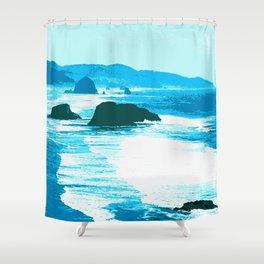 oregon beach Shower Curtain