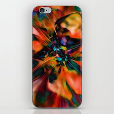 Abstract Poppy iPhone & iPod Skin