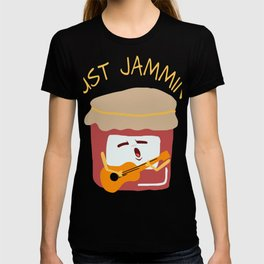 Cute Funny Pun Just Jammin' Jam Guitar T-shirt