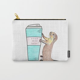 Otter drink coffee Carry-All Pouch