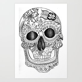 Henna Skull Art Print