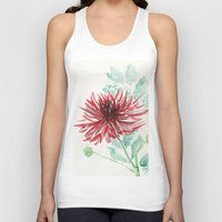 dahlia Tank Tops featuring Bursting With Excitement  by Kate Havekost Fine Art