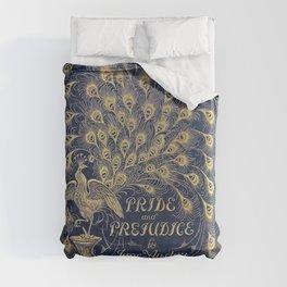 Pride and Prejudice by Jane Austen Vintage Peacock Book Cover Duvet Cover