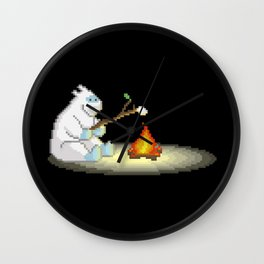 Yeti and The Yummy Marshmellow Wall Clock