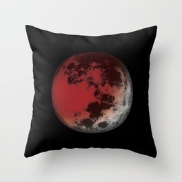 Red Moon Eclipse Throw Pillow