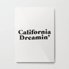 California Dreaming - Dark Metal Print