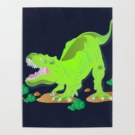 Dino - Bright Poster