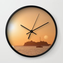 Sailing the Dream Worlds Wall Clock