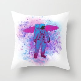 Space Angel Throw Pillow