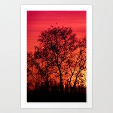Edge of Sunset Art Print