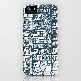 Cuneiform Tablet iPhone Case