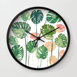 tropical nature Wall Clock