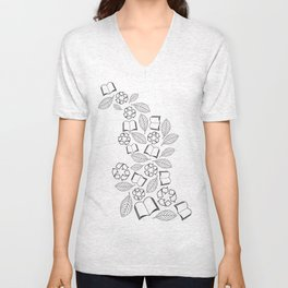 recycle reuse Unisex V-Neck