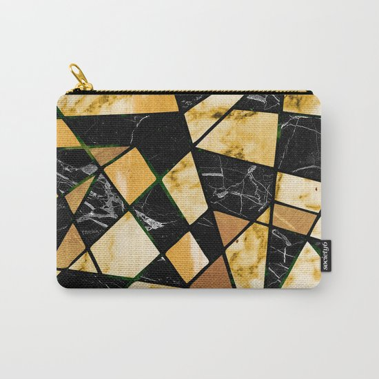 Abstract #460 Marble and Metal Carry-All Pouch
