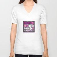 rose V-neck T-shirts featuring Rose by Monika Strigel
