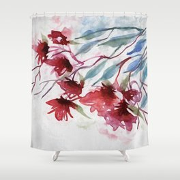 Weeping Red Shower Curtain