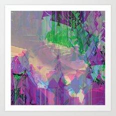 Glitched Landscape 2 Art Print