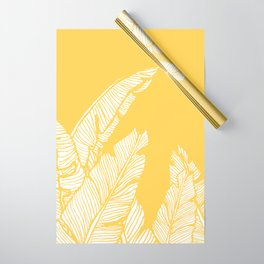 Banana Leaves on Yellow #society6 #decor #buyart Wrapping Paper