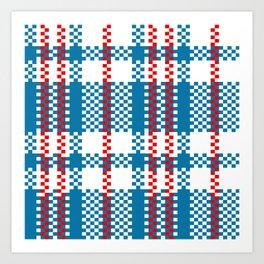 Plastic Woven Checkered Bag Art Print