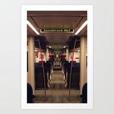 Innsbruck Train Art Print