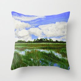 Shark Valley Landscape 1 Throw Pillow
