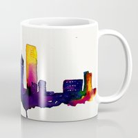 chicago map Mugs featuring Chicago  by Talula Christian