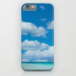 Beautiful beach and cloudy sky iPhone Case