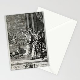 J Kip after G Freman - Classical Astronomy Scene, dedicated to Andrew Lant (1693) Stationery Cards