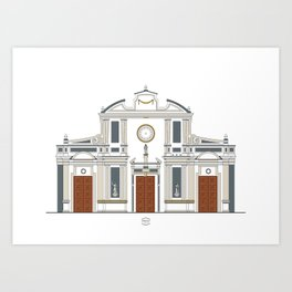 Iglesia de San Francisco Art Print