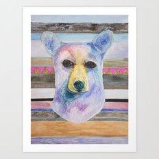 Bear Bust Art Print