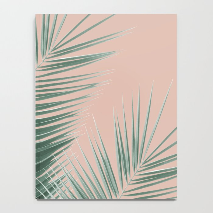 Soft Green Palm Leaves Dream - Cali Summer Vibes #1 #tropical #decor #art #society6 Notebook