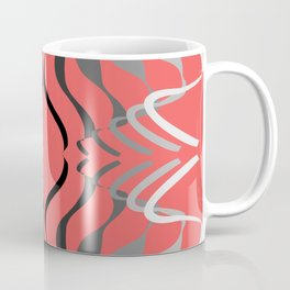 White to Black waves on th new color of the year, Living Coral Coffee Mug