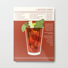 Bloody Mary Cocktail Art Metal Print