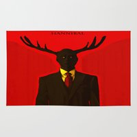 hannibal Area & Throw Rugs featuring Hannibal by Mastodon