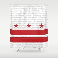dc Shower Curtains featuring DC Forever by Brandon Funkhouser