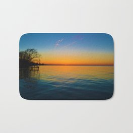 Sunset on Lake St. Clair in Lakeshore, Canada Bath Mat