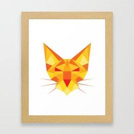 Geometricat Framed Art Print