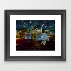Do aliens get lonely as the lights begin to fade? Framed Art Print