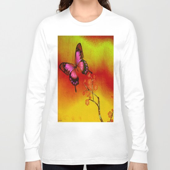 le papillon Japonais  Long Sleeve T-shirt