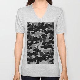 Camouflage (Gray) Unisex V-Neck