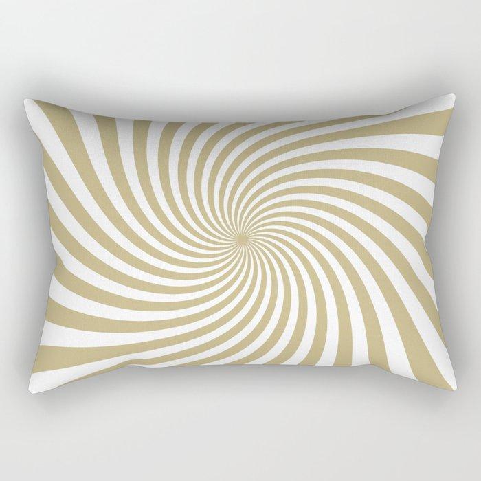 Swirl (Sand/White) Rectangular Pillow