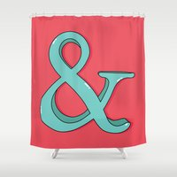 ampersand Shower Curtains featuring Ampersand by Chelsea Herrick