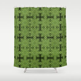 Greenery Abstract Shower Curtain