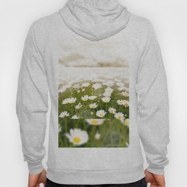 White herb camomiles clump Hoody