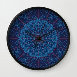 Geometric Circle Blue/Red Wall Clock