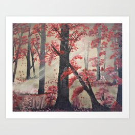 Chasing the light - Into the Forest Art Print